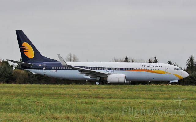 Boeing 737-800 (A6-FDE) - jet airways b737-8 a6-fde dep shannon 29/10/17.