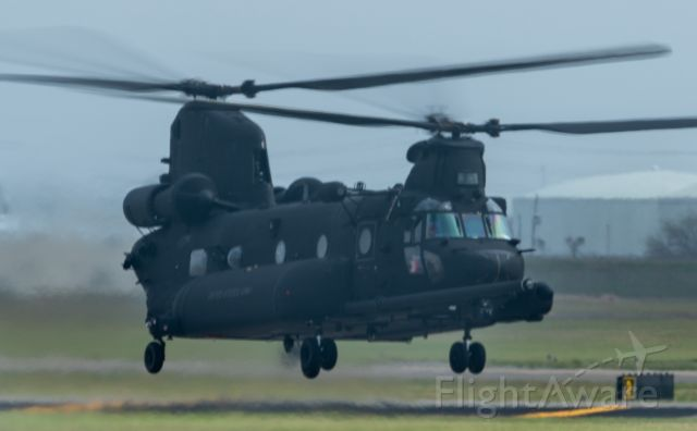 0403739 — - An Army CH-47G prepares to depart KEFD on 3/12/2021 for parts unknown