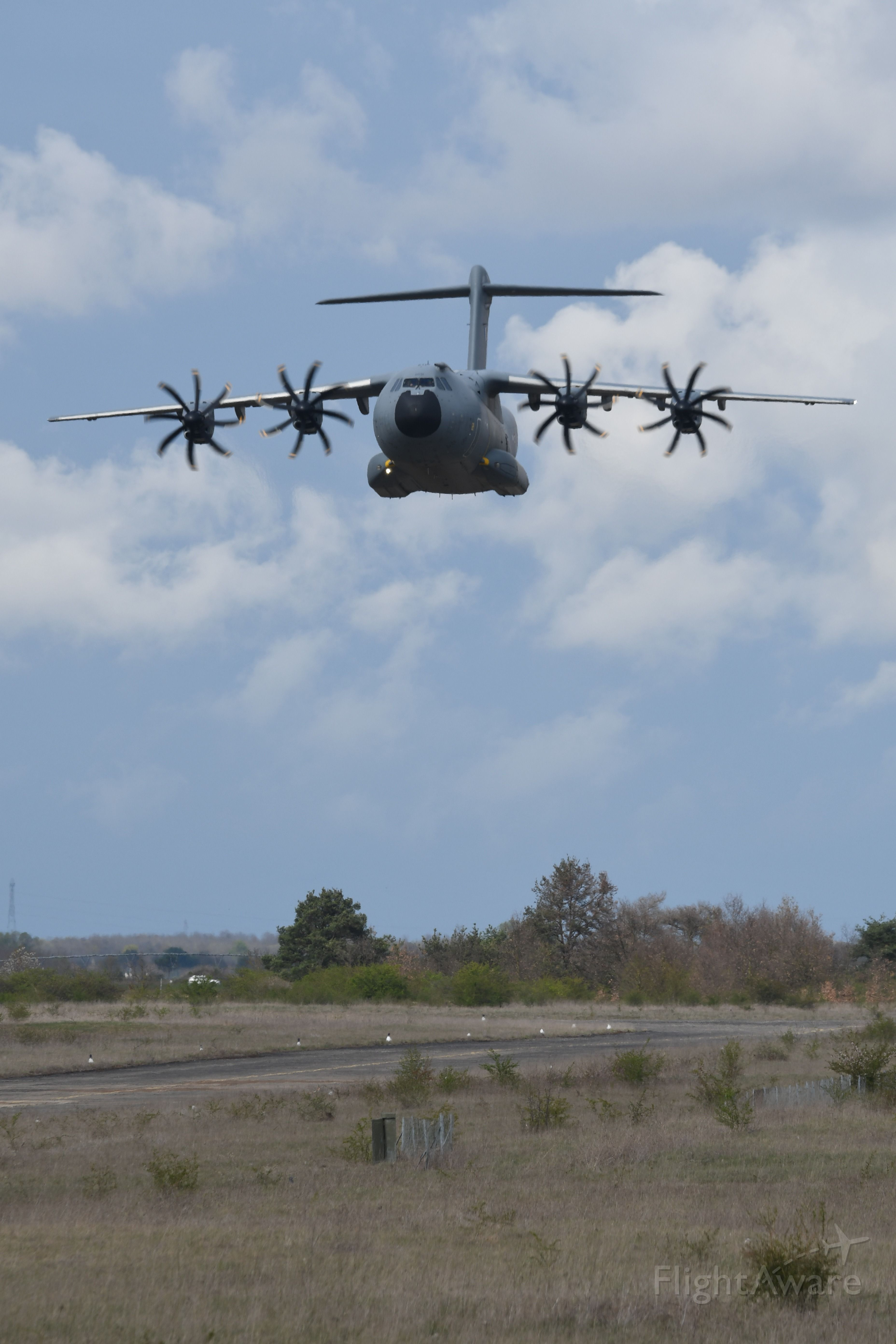 — — - Colmar AB during combined exercices APR2019 Lowpass in progress A400M<br />Alsace France