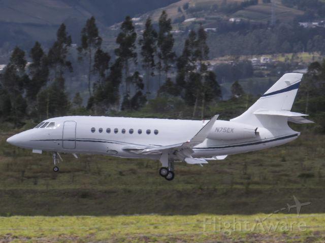 Dassault Falcon 2000 (N75EK) - Private aircraft incoming from San José. This aircraft has his HUB at SEQM.
