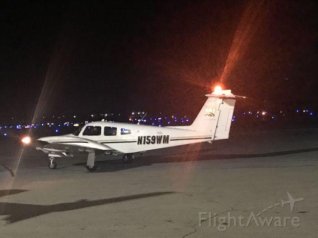 Piper PA-44 Seminole (N159WM) - View from field night