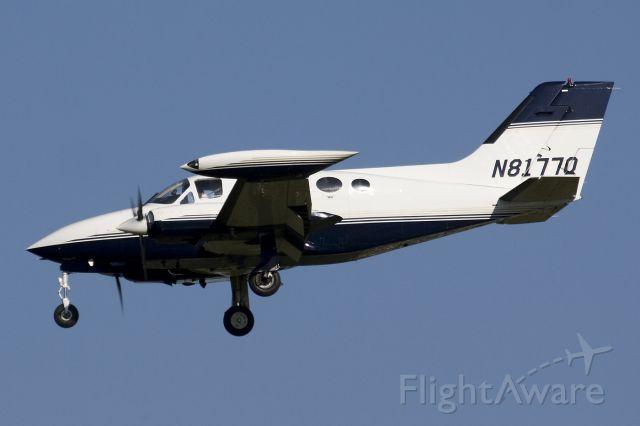 Cessna Chancellor (N8177Q) - Landing runway 36