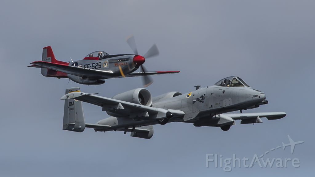 Fairchild-Republic Thunderbolt 2 — - A-10 Warthog & P-51D Mustang<br />Seafair 8-3-2018