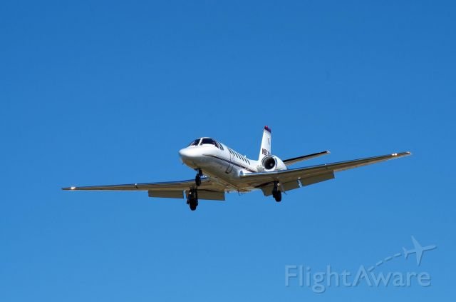 Cessna Citation V (N827QS) - Short Final 17R at KPWA 03-APR-2016