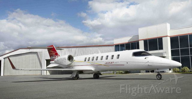 Learjet 45 (N820AT) - old picture prior to new registration