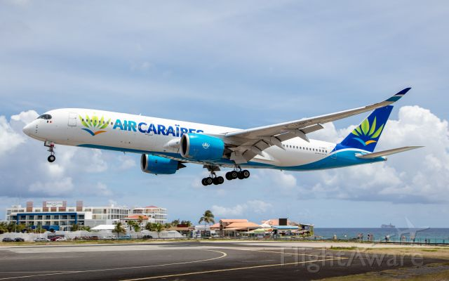 Airbus A350-900 (F-HNET) - Last visit of Air Caraïbes A359 to St. Maarten SXM/TNCM until further notice (5/2/2021)