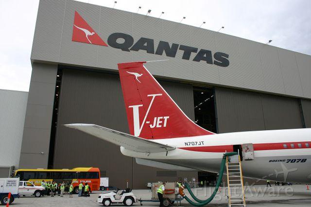 Boeing 707-100 (N707JT) - Outside the Qantas Hanger at Brisbane Airport - 15th November 2005