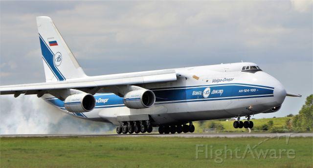 Antonov An-124 Ruslan (RA-82043) - volga-dnepr an-124-100 ra-82043 landing at shannon from emmen 27/5/20.