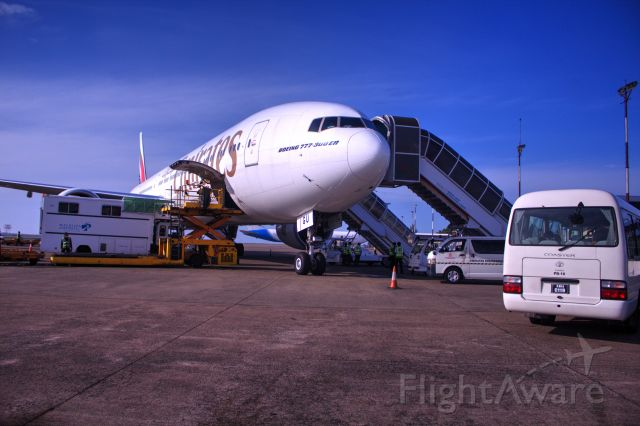 Boeing 777-200 (A6-EMW) - I took this photo of a6-emw at nasir ibrahimn international airport maldive