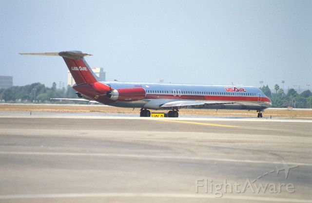 McDonnell Douglas MD-81 (N805US) - Departure at KLAX intl Airport on 1989/08/28