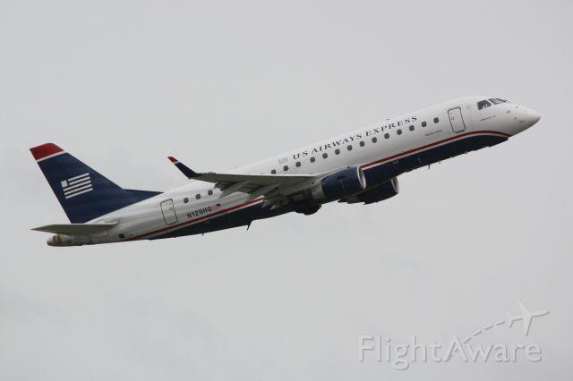 Embraer 170/175 (N129HQ) - US Air Flight 3230 operated by Republic (N129HQ) departs Sarasota-Bradenton International Airport enroute to Charlotte-Douglas International Airport