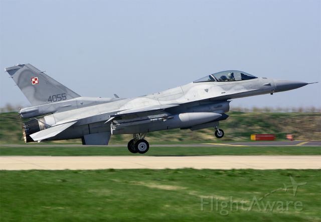 N4055 — - Polish AF F-16C 4055 returning from a Frisian Flag 2010 mission