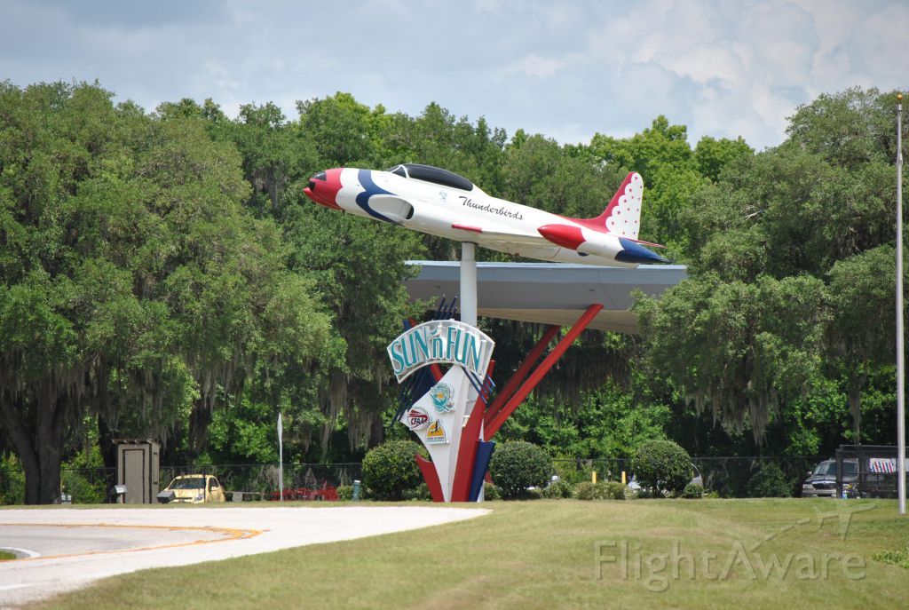 Lockheed T-33 Shooting Star — - Jet-On-A-Stick at entrance to Sun N Fun