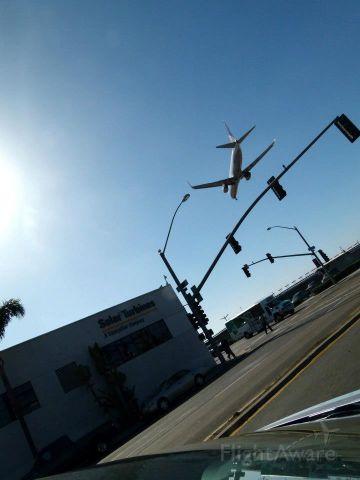 — — - downtown landing at SAN.
