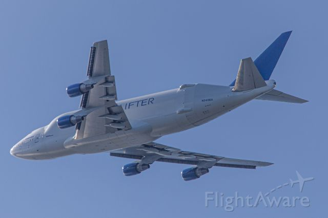 Boeing 747-200 (N2498A) - From my home in Kingston, WA 12 miles NW from Seattle.