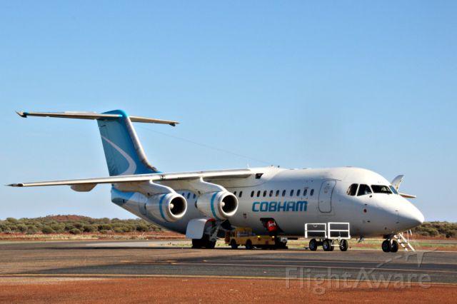 British Aerospace BAe-146-300 (VH-NJN) - VH-NJN in Cobhams new livery at Meekatharra for FIFO closed charter