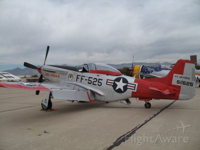 North American P-51 Mustang (N151AF) - Val Halla P-51D at Heritage Flight 2008, Davis Monthan AFBbr /For those of you who notice it, there is a 57th FIS patch on the aircraft.  The 57th FIS was home based at Keflavik Iceland