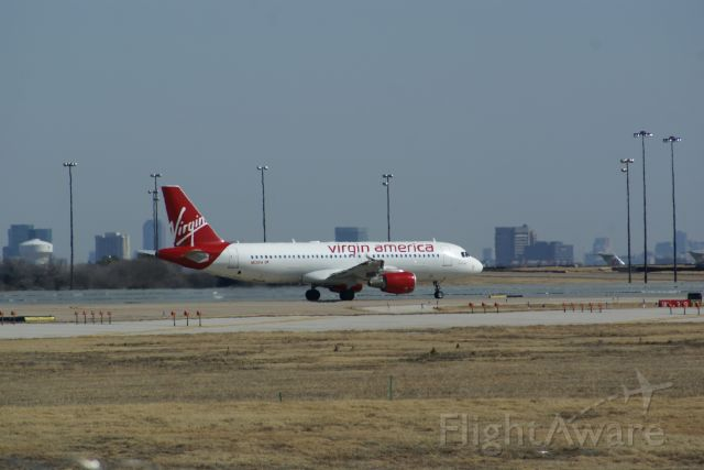 Airbus A320 — - Virgin America A320 ready to take off at KDFW.