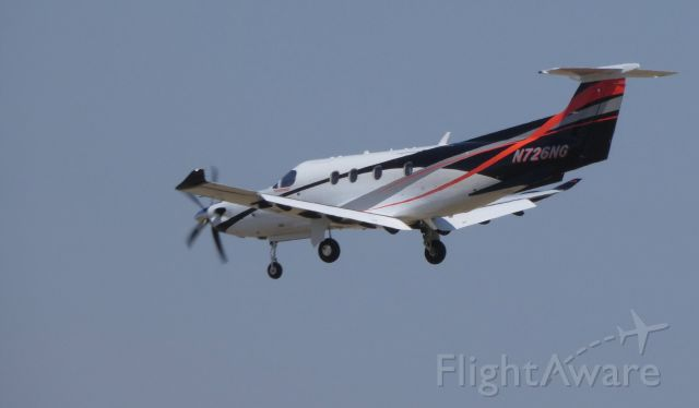 Pilatus PC-12 (N726NG) - On final is this 2017 Pilatus PC-12/47E in the Spring of 2019.