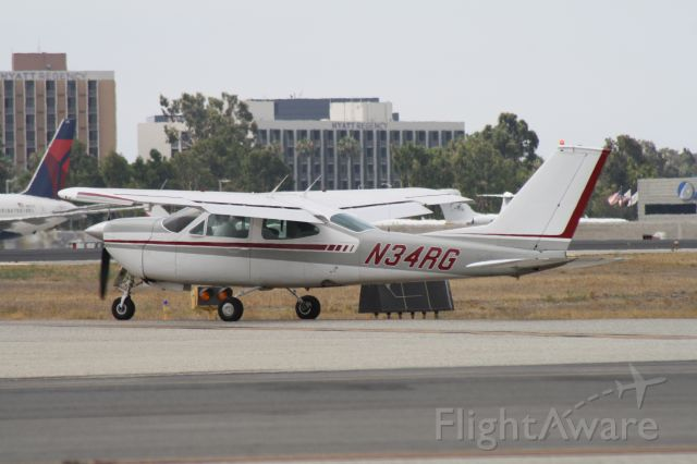 Cessna 177RG Cardinal RG (N34RG) - Taxiing for takeoff at John Wayne Airport, July 18 2018.