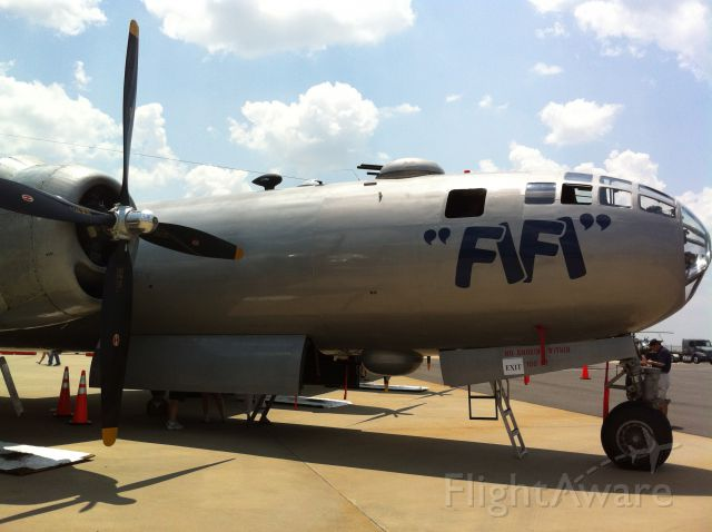 Boeing B-29 Superfortress (N529B) - What a beautiful aircraft. The only airworthy B-29 in the world, FiFi At The Carolinas Aviation Museum at Charlotte/Douglas International Airport.