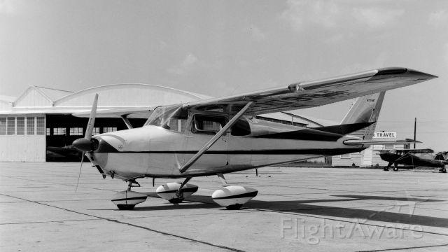 Cessna Skyhawk (N7798T) - Outside the main Hangar at KBPT in the summer of 1960.