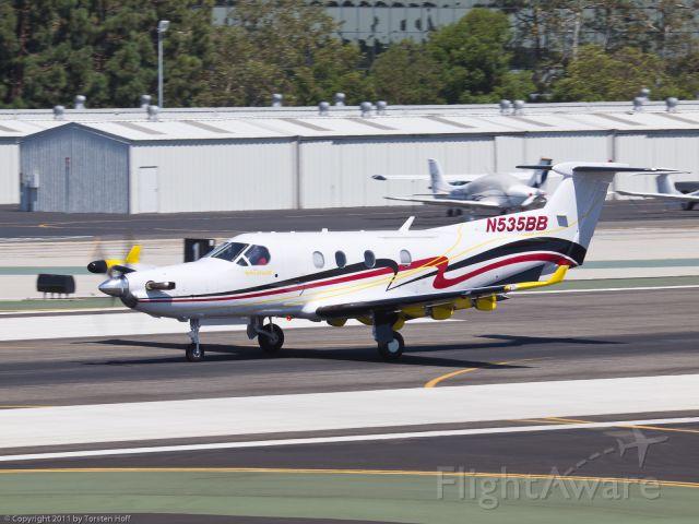Pilatus PC-12 (N535BB) - N535BB departing from RWY 21