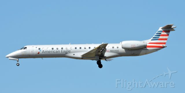 Embraer ERJ-145 (N604AE) - This American Eagle is seconds from landing, Mar. 2020.
