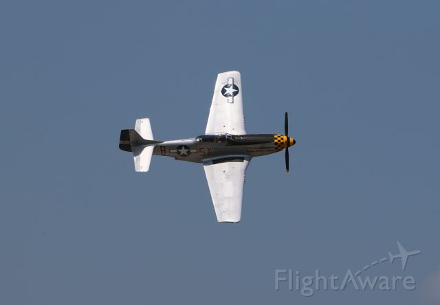 North American P-51 Mustang (47-3990) - Alabama Rammer Jammer performing at Georgetown-Scott Co. AirFest July 2018.