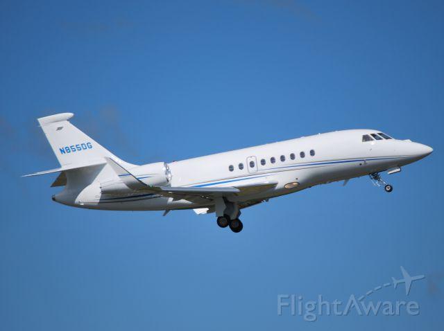 Dassault Falcon 2000 (N855DG) - DOLLAR GENERAL CORP departing runway 20 at KJQF - 5/27/12