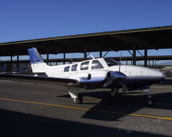 Beechcraft Baron (58) (N58VB) - Taken at KVGT.  Owned over 20 Years.