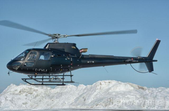 Eurocopter AS-350 AStar (C-FWLA) - Visiting CYHU, 21-02-2021