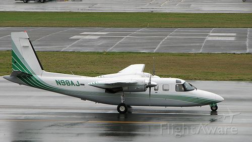 Rockwell Turbo Commander 690 (N98AJ) - Taxiing out in Renton.