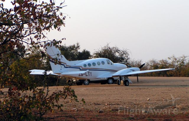 Cessna Chancellor (ZS-LTY) - Parked on a bush strip n South Africa.
