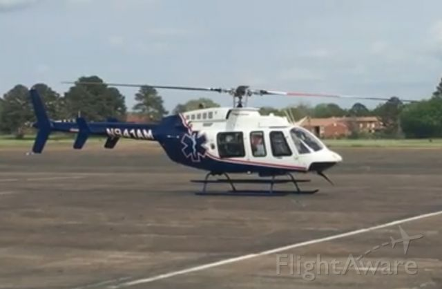 Bell 407 (N941AM) - Fuel stop at KHKS before returning to KCKM