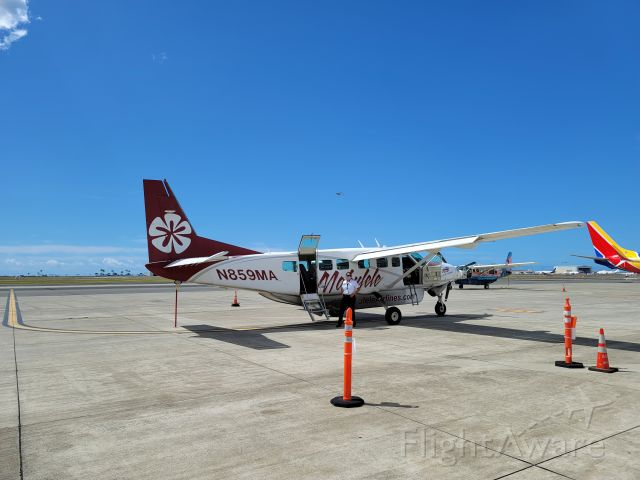 Cessna Caravan (N859MA) - Our plane on the ramp at HNL, preparing to go to MKK.
