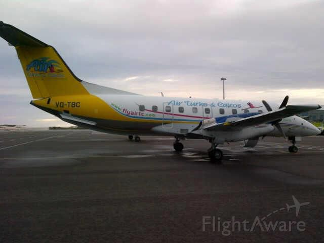 Embraer EMB-120 Brasilia (VQ-TBC) - A rainy day in the turks and caicos islands