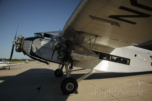 NC9645 — - 081316 Trimotor City of Wichita in Omaha for the weekend.