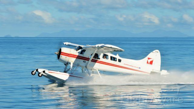 De Havilland Canada DHC-2 Mk1 Beaver (VH-AWI) - Little India taking off from Hayman Island, Qld.