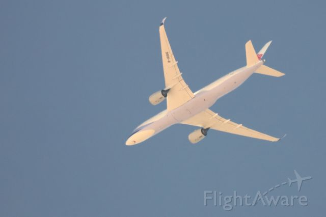 Airbus A350-900 (B-18916) - Aircraft was passing over Pinon Hills CA at FL150, descending to land at KONT.