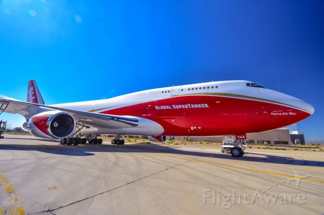 Boeing 747-200 (N744ST) - Fresh out of maintenance at KVCV