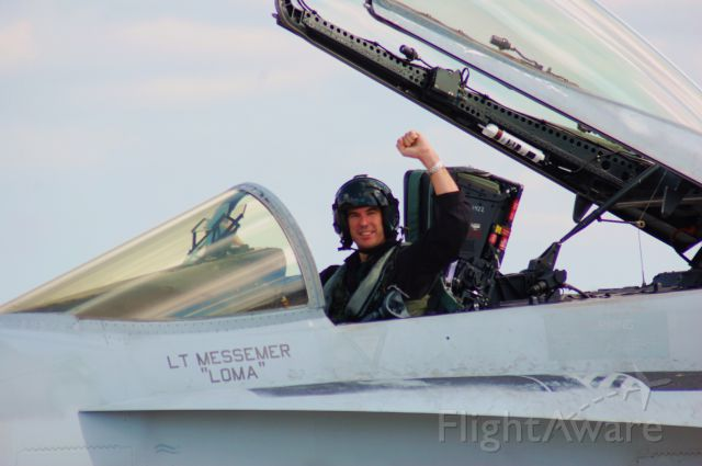 McDonnell Douglas FA-18 Hornet — - I thought the black suit on a Navy pilot was a little different?