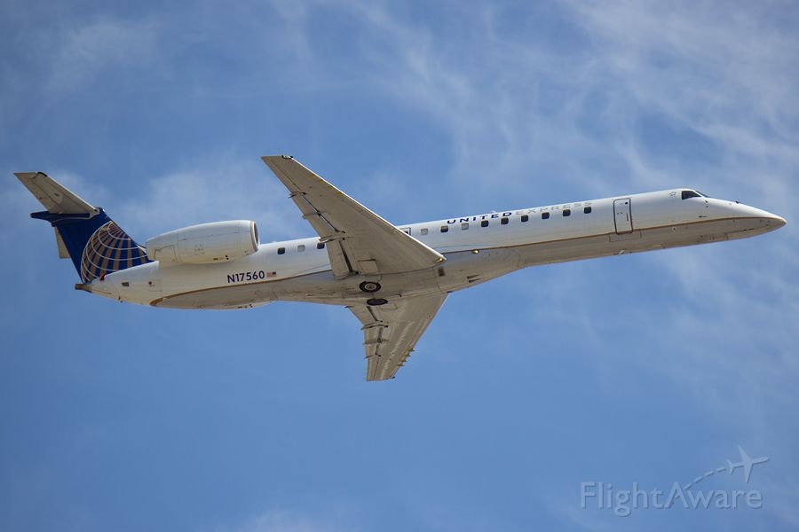 Embraer ERJ-145 (N17560) - Ship 560 departing 21R on 04/12/2015. I have about 10 hours in this particular 145! It was nice to see an old friend while spotting today!