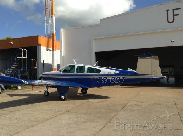 Beechcraft 35 Bonanza (PR-ODT) - At new home, new name and refreshed paint