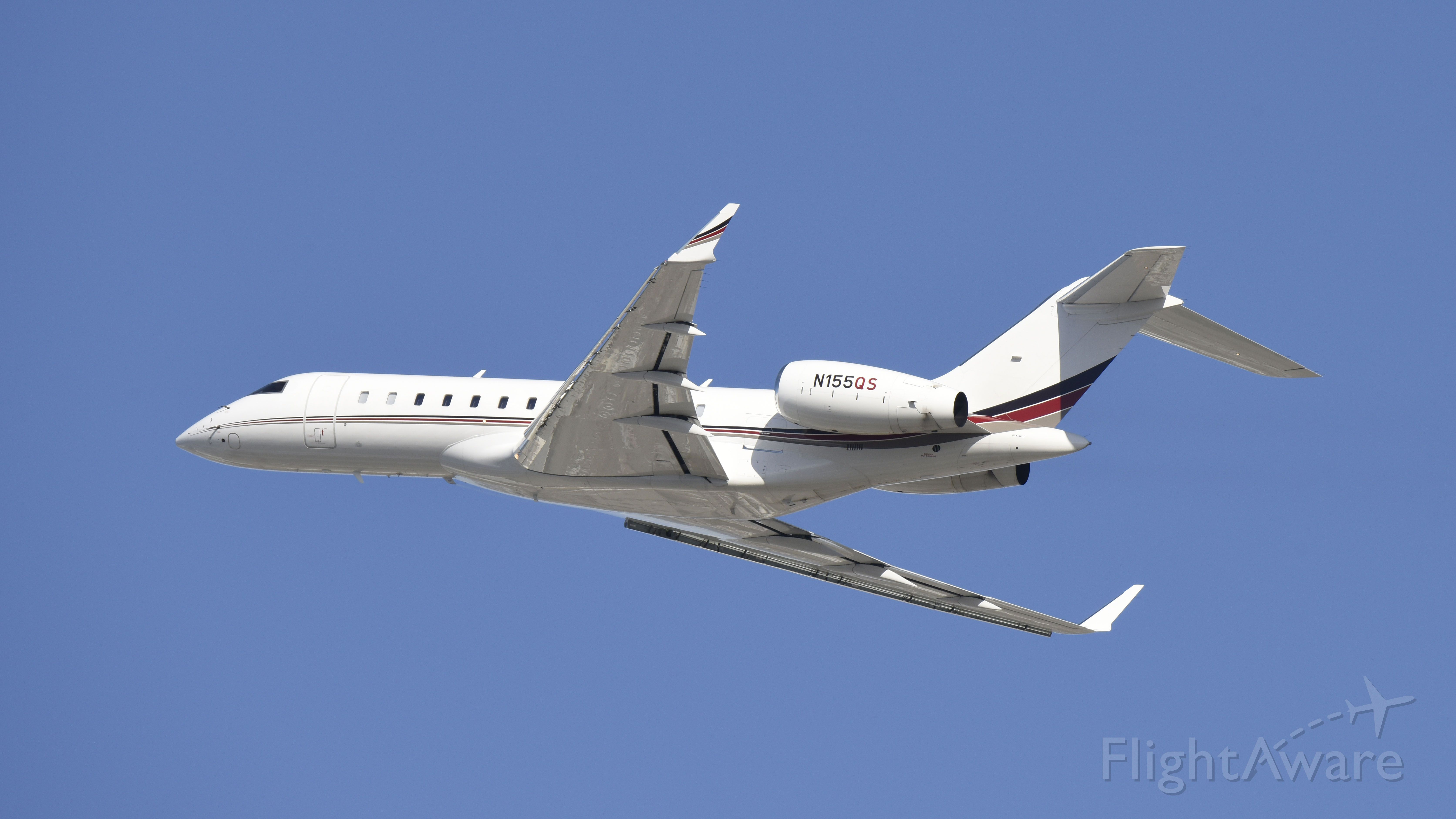 Bombardier Global Express (N155QS) - Departing LAX on 25L
