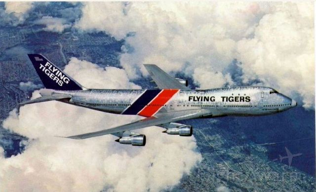 BOEING 747-100 (N819FT) - scanned from postcard