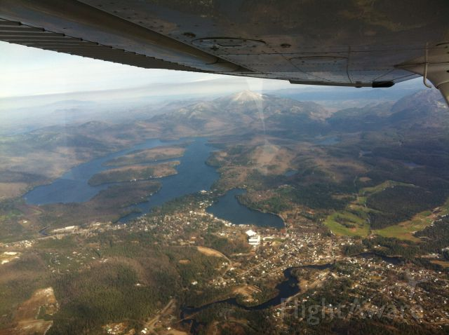 Cessna Skyhawk (N225RA) - City of Lake Placid, Lake Placid Lake, and Whiteface Mountain.