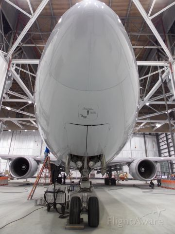 BOEING 767-300 (N389AA) - At the paint hangar at Grissom ARB near Peru, IN. World's first wingleted 767 now wearing the new livery before reentering revenue service.