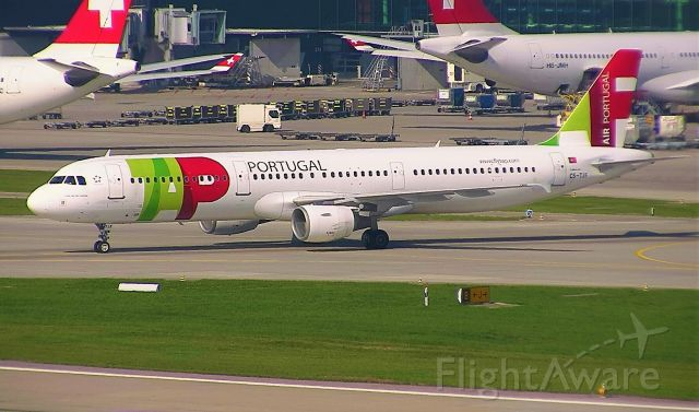 Airbus A321 (CS-TJF) - Taxiing for departure.