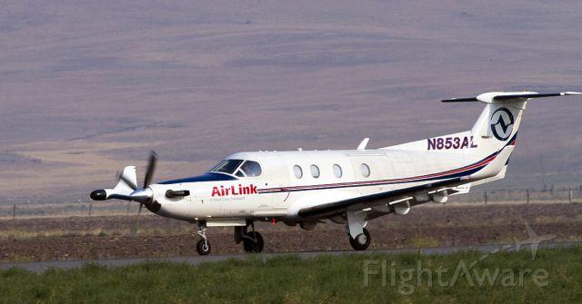 Pilatus PC-12 (N853AL) - AirLink Pilatas PC-12 departs Siskiyou County Airport.